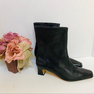 ETIENNE AIGER-ankle boot with block kittens heel🌹